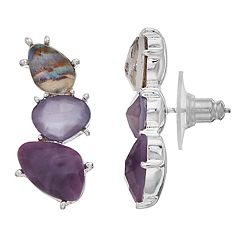 Dana Buchman Purple Ear Climber Earrings