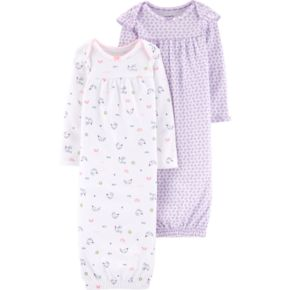 Baby Girl Carter's 2-pack Whale & Heart Sleeper Gowns