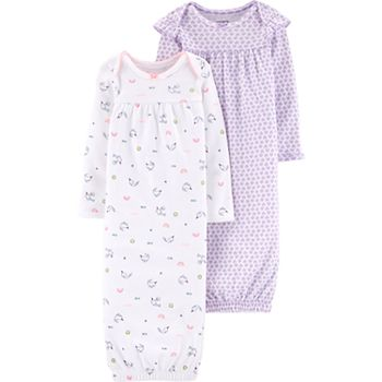 88530b605 Baby Girl Carter's 2-pack Whale & Heart Sleeper Gowns