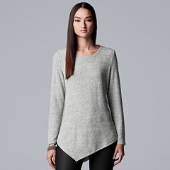 Petite Simply Vera Vera Wang Asymmetrical Top