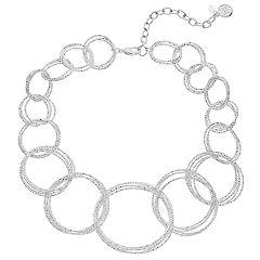 Dana Buchman Textured Circle Link Statement Necklace