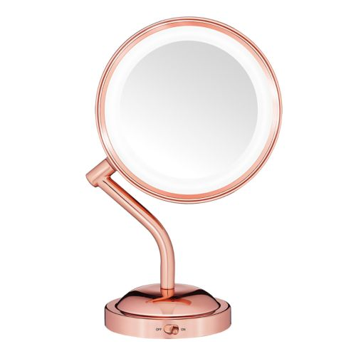 Conair Reflections Rose Gold Tone Led Lighted Mirror by Kohl's