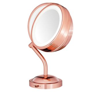 Conair Reflections Rose Gold Tone LED Lighted Mirror