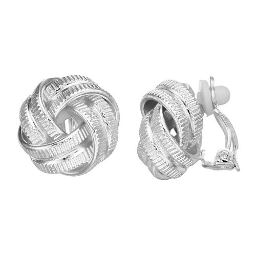 Dana Buchman Knot Clip On Earrings