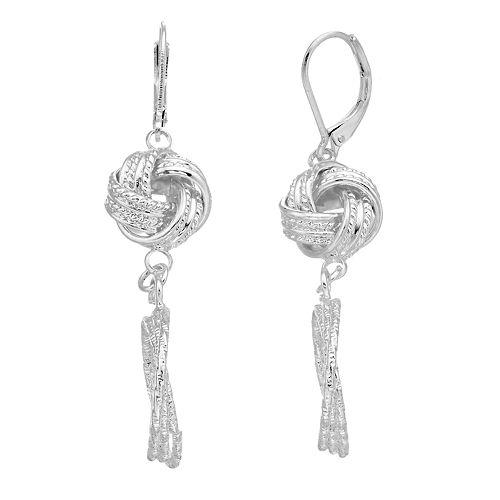 Dana Buchman Knotted Linear Drop Earrings