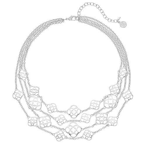 Dana Buchman Medallion Multi Strand Statement Necklace