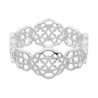 Dana Buchman Silver Tone Openwork Stretch Bracelet