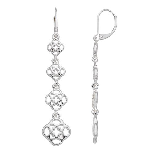Dana Buchman Openwork Linear Drop Earrings