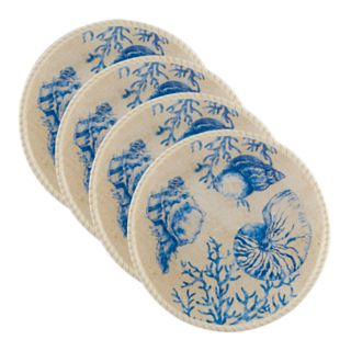 Certified International Seaside 4-piece Dinner Plate Set
