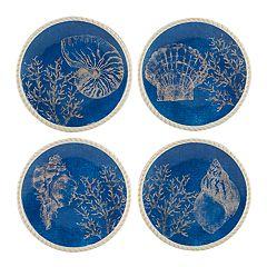 Certified International Seaside 4-piece Dessert Plate Set