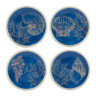 Certified International Seaside 4-piece Dessert Plate Set
