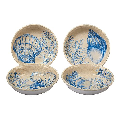 Certified International Seaside 4-piece Soup/Pasta Bowl Set