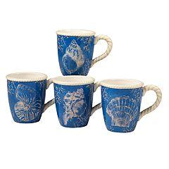 Certified International Seaside 4-piece Mug Set