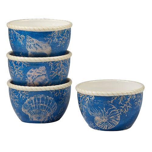 Certified International Seaside 4-pc. Ice Cream Bowl Set