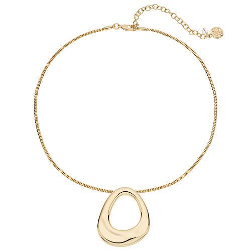 Dana Buchman Gold Tone Geometric Pendant Necklace