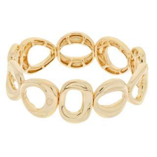 Dana Buchman Gold Tone Geometric Link Stretch Bracelet
