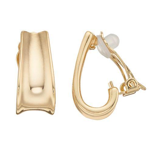 Dana Buchman J Hoop Clip On Earrings