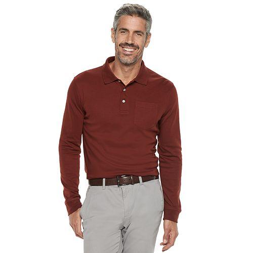 Long Sleeve Men/'s Mock neck T-Shirts XXL,XL,Croft /& Barrow 60/% cotton 40/% polyes