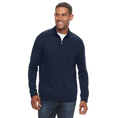 Men's Croft & Barrow® Classic-Fit Easy-Care Interlock Quarter-Zip Pullover