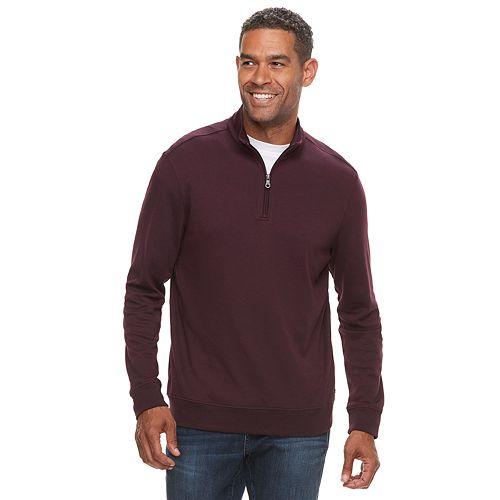 Men's Croft & Barrow® Classic-Fit Easy-Care Interlock Quarter-Zip Pullover