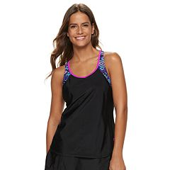Women's ZeroXposur Draped Racerback 2-for-1 Tankini Top
