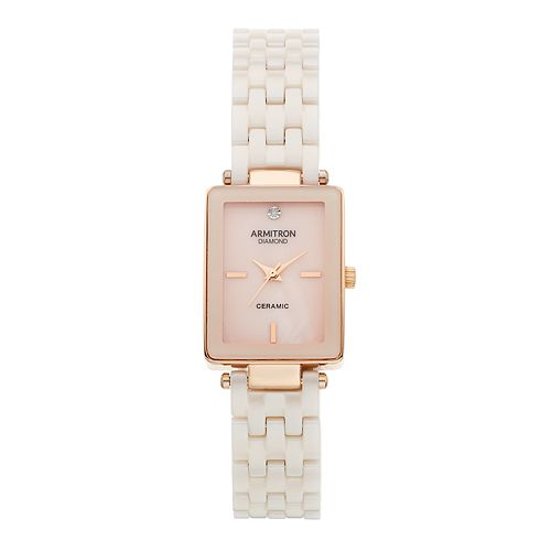 Armitron Women's Diamond Accent Ceramic Watch - 75/5613BMRG