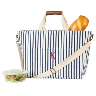 Cathy's Concepts Monogram Striped Cooler Tote