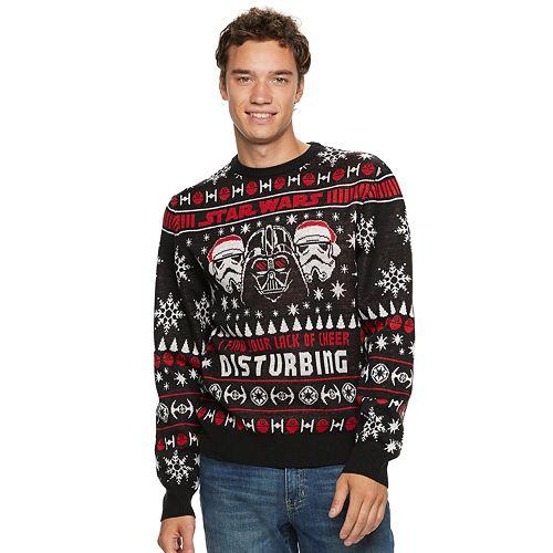 Kohl Ugly Christmas Sweaters.Men S Star Wars Dark Side Ugly Christmas Sweater