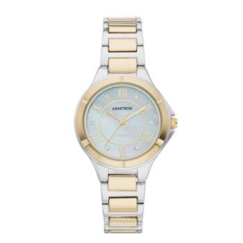 Armitron Women's Crystal Accent Two Tone Solar Watch - 75/5624MPTT