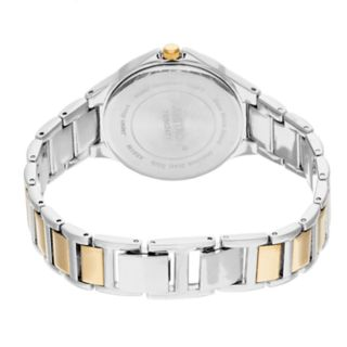 Armitron Women's Crystal Accent Two Tone Solar Watch - 75/5624MPTT