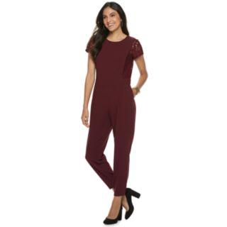 Women's Apt. 9® Lace Sleeve Jumpsuit