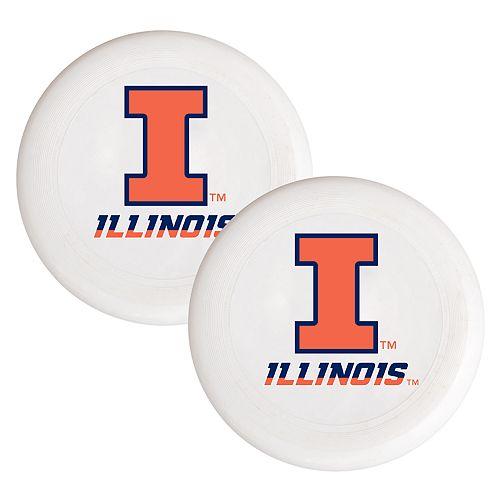Illinois Fighting Illini 2-Pack Flying Disc Set
