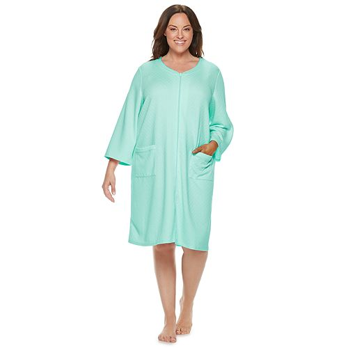 Plus Size Croft & Barrow® Quilted Duster Robe