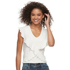 Juniors' American Rag Ruffled Top