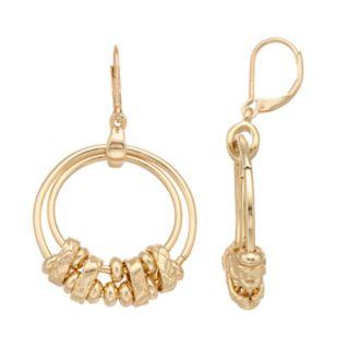 Napier Double Hoop Drop Earrings