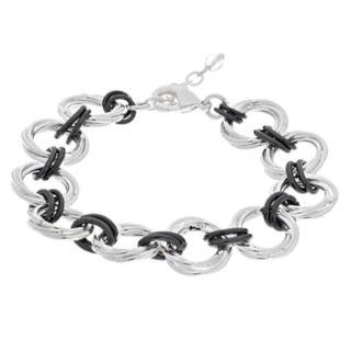 Napier Two Tone Circle Link Bracelet