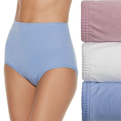 Vanity Fair Perfectly Yours Ravissant Classic Cotton 3-Pack Briefs 15320