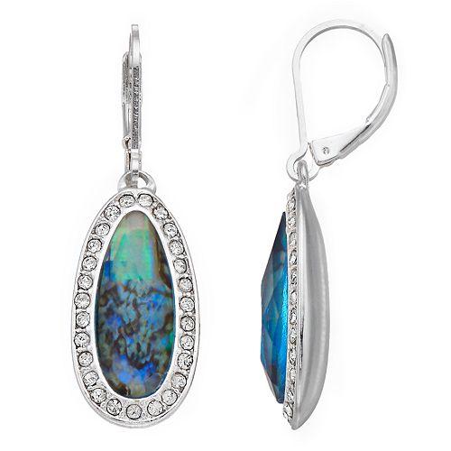 Dana Buchman Pave Stone Drop Earrings