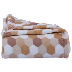 Better Living Honeycomb Print Plush Throw