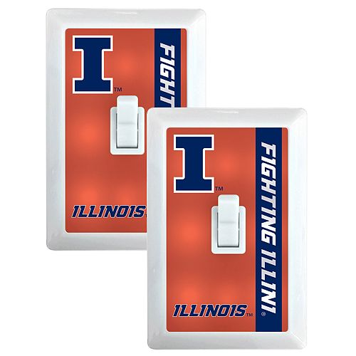 Illinois Fighting Illini 2-Pack Nightlight Light Switch