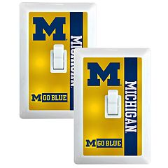 Michigan Wolverines 2-Pack Nightlight Light Switch