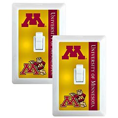 Minnesota Golden Gophers 2-Pack Nightlight Light Switch