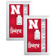 Nebraska Cornhuskers 2-Pack Nightlight Light Switch