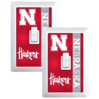 Nebraska Cornhuskers 2-Pack Nightlight Light Switch