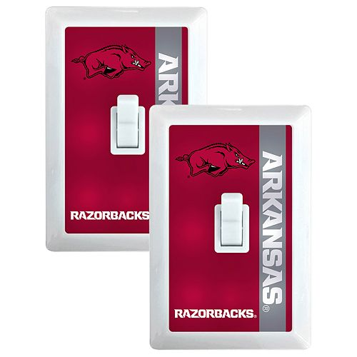 Arkansas Razorbacks 2-Pack Nightlight Light Switch