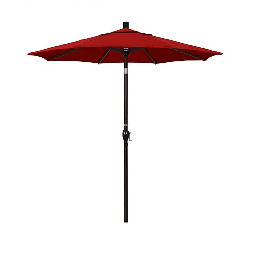 California Umbrella 7.5-ft. Pacific Trail Sunbrella Red Patio Umbrella