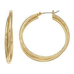 Napier Twisted Double Hoop Earrings