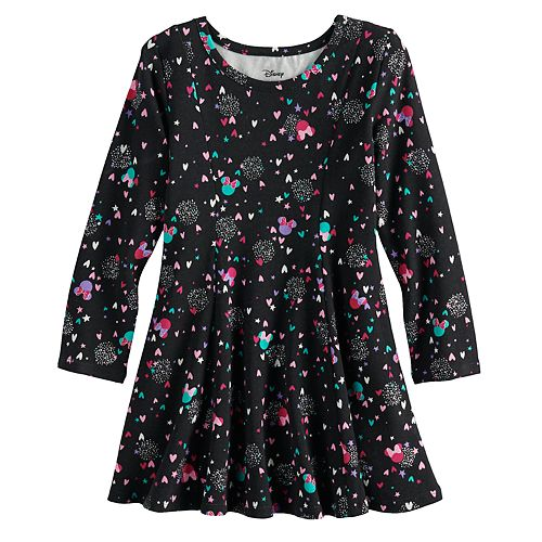 Disney's Minnie Mouse Toddler Girl Princess Seam Glitter Heart Printed Dress by Jumping Beans®