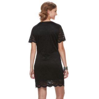 Juniors' Liberty Love Lace Bodycon Dress