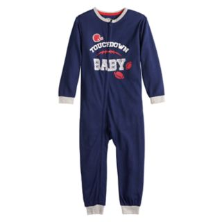 "Toddler Jammies For Your Families Sunday Funday ""Touchdown Baby"" One-Piece Pajamas by Cuddl Duds"
